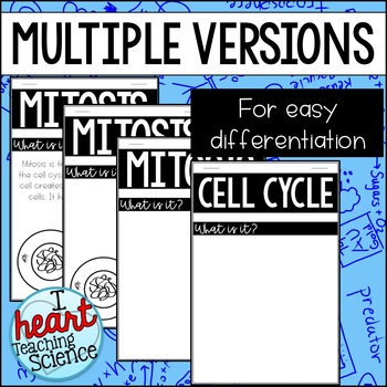 Cell Cycle Mitosis Interactive Notebook Foldable Activity