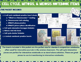 Cell Cycle Mitosis Meiosis Interactive Notebook Bundle