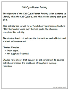 Cell Cycle Packet: PowerPoint, Guided Notes, Worksheet, Activity, Concept Map
