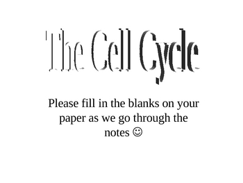 Cell Cycle PowerPoint Presentation