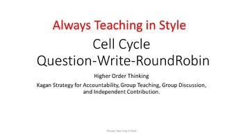 Cell Cycle Question-Write-RoundRobin Higher Order Thinking (Editable)
