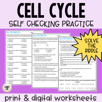 Cell Cycle Self Checking Practice