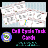 Cell Cycle Task Cards: Mitosis & Meiosis
