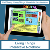 Living Things and Cells Digital Interactive Notebook