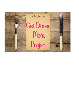 Cell Dinner Menu Project- EDITABLE!!!!