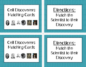 Cell Discoverers Matching Cards