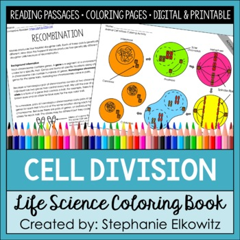 Cell Division Coloring and Science Literacy Unit