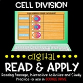 Cell Division DIGITAL Read and Apply (DISTANCE LEARNING)