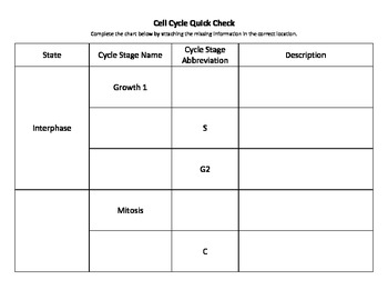 Cell Division Formative Assessment Pack