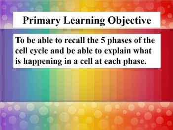 Cell Division & Mitosis Notes Powerpoint