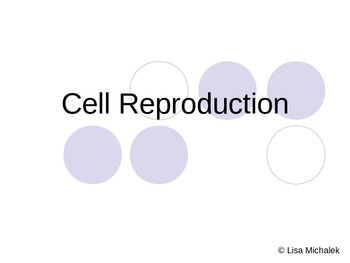Cell Division Mitosis and Meiosis PowerPoint Presentation Lesson Plan