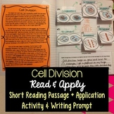 Cell Division Reading Comprehension Interactive Notebook