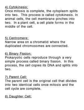 Cell Division - The Cell Cycle, Mitosis, and Cytokinesis Complete Unit