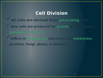 Cell Division Unit