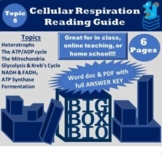 Guided Reading: Cell Energy, ATP, Cellular Respiration and