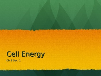 Cell Energy PowerPoint