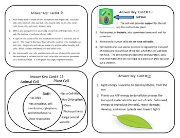 Cell Task Cards
