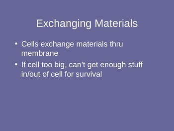 Cell Growth PowerPoint