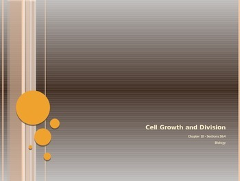 Cell Growth and Division - Regulating Cell Cycle & Differentiation - PowerPoint