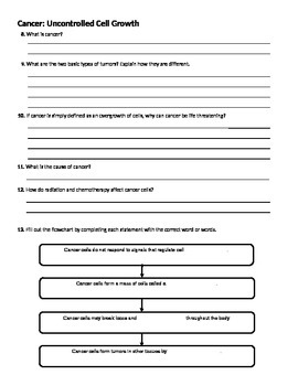 Cell Growth and Division-Regulating Cell Cycle & Differentiation - Worksheets