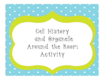 Cell History and Cell Organelles Around the Room Activity