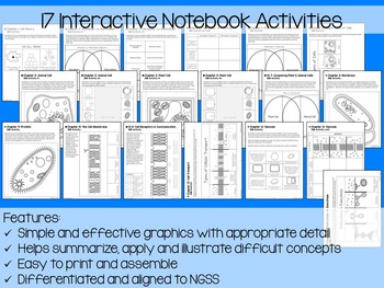 Cells Interactive Notebook Unit