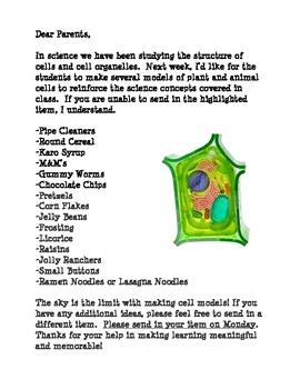 Cell Lab-Parent Donation Sheet