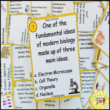 Cell Life Task Cards