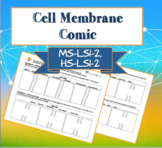 Cell Membrane Comic Strip (NGSS HS-LS1-2)