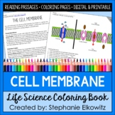 Cell Membrane Coloring and Reading Unit | Printable & Digital