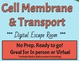 Cell Membrane & Transport Escape Room (Digital & Print versions)