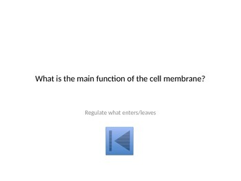 Cell Membrane & Transport Jeopardy