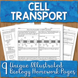 Cell Membrane Transport Unit Homework Page Bundle