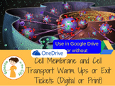 Cell Membrane Transport Bell Ringer or Exit Ticket Digital Task Card Set
