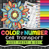 Cell Membrane and Transport Color by Number - Science Color By Number
