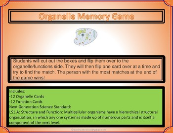Cell Memory Game