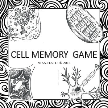 Cell Memory Game Black & White