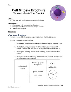 Cell Mitosis Brochure