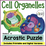 Cell Organelle Acrostic Puzzle | Printable and Digital Dis