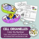 Cell Organelle Structure & Function - Color by Number - Distance Learning