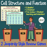 Cell Organelle Jeopardy Style Review Games
