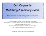 Cell Organelle Matching and Memory Game