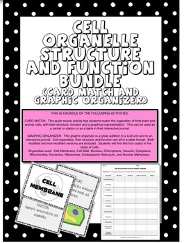 Cell Organelle Structure and Function BUNDLE