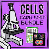 Cell Organelle and Mitosis Card Sort Bundle