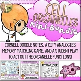 Cell Organelles Activity Bundle : Doodle Notes, Memory Game, Student Play