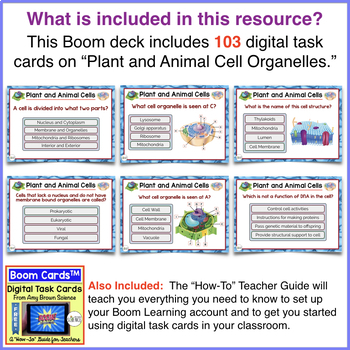 Cell Organelles Boom Cards™ High School Edition
