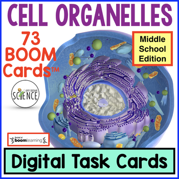 Cell Organelles Boom Cards™ Middle School Edition