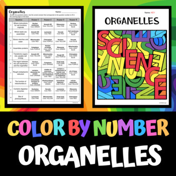 Cell Organelles - Color by Number