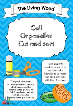 Cell Organelles Cut and sort