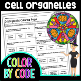 Cell Organelles Halloween Color By Number | Science Color